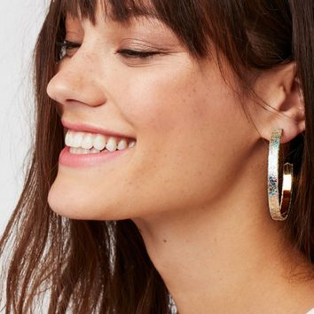 Free People Leather Hoops