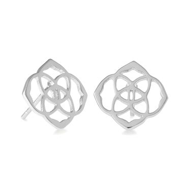 Kendra Scott Dira Silver Quatrefoil Earrings
