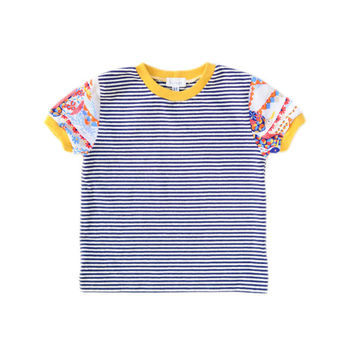 Striped Bird-Sleeve Tee | 3T