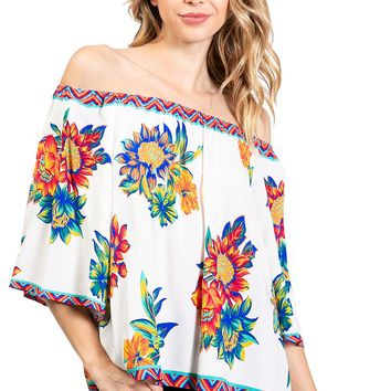 Sunflower Off-Shoulder Blouse