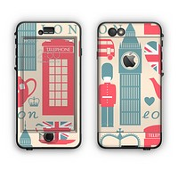 The Vector London Time Red Apple iPhone 6 Plus LifeProof Nuud Case Skin Set