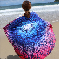 New Summer Microfiber Boho Round Beach Towel Camping Swimwear Shower Yoga Sport Travel Towels E2shopping
