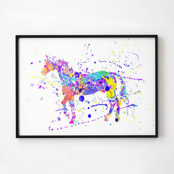 Horse decor Wildlife art Animal print EM324