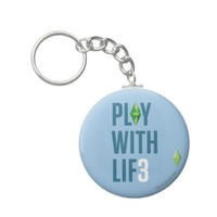 The Sims 3 - Play with Lif3 Keychain from Zazzle.com