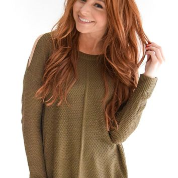 Manhattan Cold Shoulder In Olive
