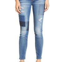 7 For All Mankind® Ankle Skinny Jeans (Light Patch) | Nordstrom