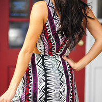 Cut To The Chase Dress: Purple/Red | Hope's