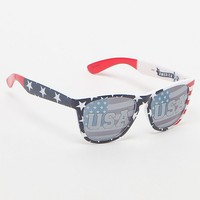 Pacsun USA All The Way Sunglasses - Mens Sunglasses - Red/White/Blue - NOSZ