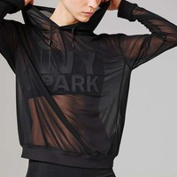 Sheer Mesh Hoodie by Ivy Park - Ivy Park - Clothing