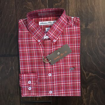 Southern Point Co - Youth Holiday Plaid Hadley Button Down