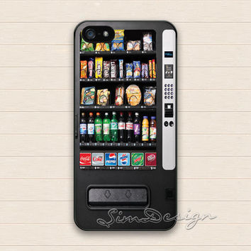 Vending Machine iPhone 5 5s Case,iPhone 4 4s Case,iPhone 5C Case,Samsung Galaxy S3 S4 S5 Case,Snack Vending Machine Hard Rubber Cover Case