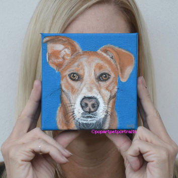 Visla, Custom Dog Art, Custom dog Portraits, Pet Paintings, Dog Portraits, Pet Art