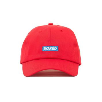 Comfortable Embroidered Bored Dad Hat - Baseball Cap / Baseball Hat