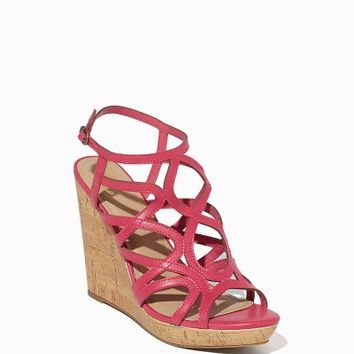 Karolina Strappy Cork Wedges | Charming Charlie