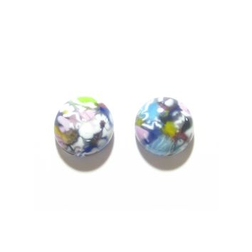 Colorful Millefiori Sterling Post Earrings