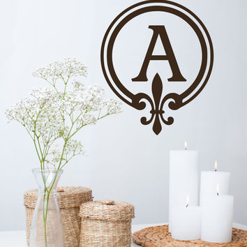 Monogram Wall Decal Personalized Initial - by Decor Designs Decals, Family Wall Decals Art Home Interior Living Room Or Bedroom - Initial Name - Initial Decal - AU15
