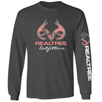 Realtree Long Sleeve Buck T-Shirt - For Life Out Here
