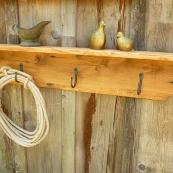 Reclaimed Oak Barn Wood Coat Rack with by Cripplecreekwoodwork