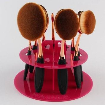 Round Brushtree Brush Holder Makeup Brush Display Stand - Rose Madder