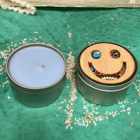 Smiley Face Tin Candle