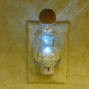 Patron Silver Tequila Glass Night Light