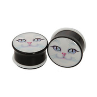 Morbid Metals White Cat Plugs 2 Pack | Hot Topic