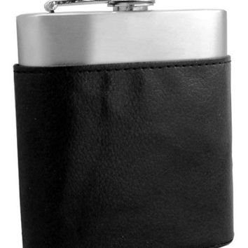 Holder Black Leather Hip Flask Pouch