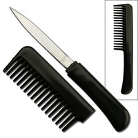 Wholesale Hidden Knives - Wholesale Black Comb WIth Hidden Knife