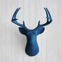 The Virginia Navy Faux Deer Head