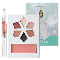 Sephora: Stila : Merry & Bright Collectible Holiday Palette & Lip Glaze : combination-sets-palettes-value-sets-makeup