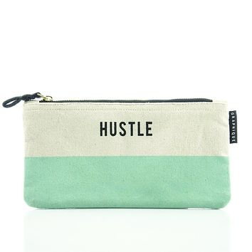 Hustle Small Zip Pouch in Pastel Green