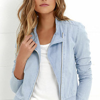 Element Eden Jealous Light Blue Chambray Jacket