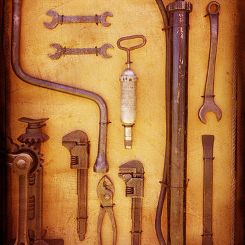 Auto Mechanic Vintage Tools by Ann Powell