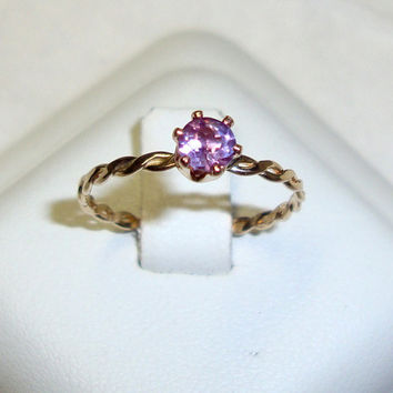 Ring Alexandrite color change violet to pink lab by ApacheMoon