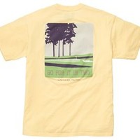 Southern Proper Mens Golf for it in Two T-Shirt in Gold