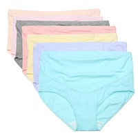 Soft Breathable Cotton Maternity Panties with Belly Support