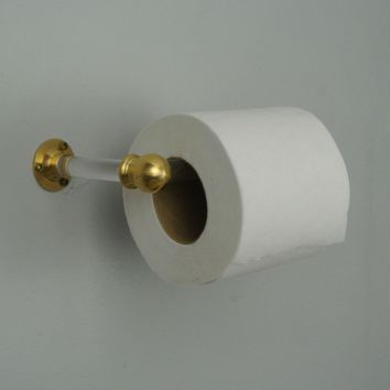 Lucite Toilet Paper Holder