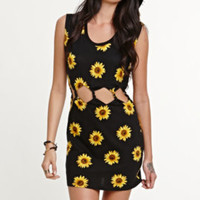 Kendall and Kylie Twisted Sunflower Cutout Dress at PacSun.com
