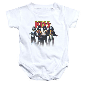 KISS Boys' Throwback Pose Bodysuit White Rockabilia