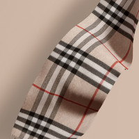 The Classic Cashmere Scarf in Check Stone | Burberry