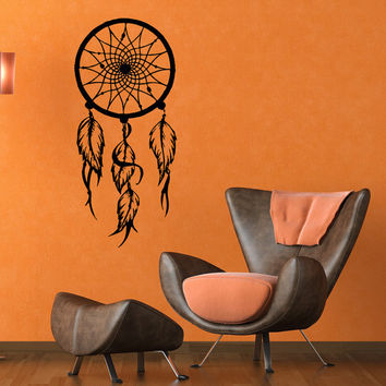 Dreamcatcher Wall Decal Dream Catcher Native America Vinyl Decals- Dreamcatcher Living Room Bedroom Hippie Boho Bohemian Bedding Decor 0007
