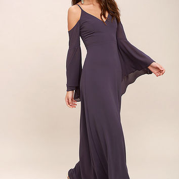 Glamorous Greeting Dusty Purple Maxi Dress