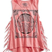 Lucky Brand Ellie Scarf Tank Girls - Caribbean Coral