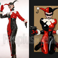 Batman Cosplay, Harley Quinn Jester PVC Costume Set