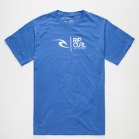 Rip Curl Wave Icon Mens T-Shirt Royal  In Sizes
