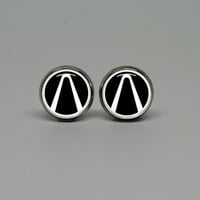Silver Stud Post Earrings with Borderlands vault