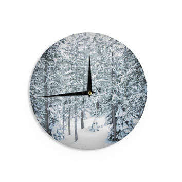 "Juan Paolo ""Winter Trials"" White Snow Wall Clock"