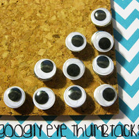 10 Goggly Eye Thumbtacks