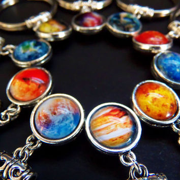 Planet keychains, solar system keychains, outer space keychains, planet, solar system, space, outer space, keychain, key chain, keyring