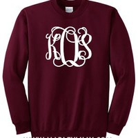 Monogrammed Crewneck Sweatshirt | Personalized & Preppy | Marley Lilly